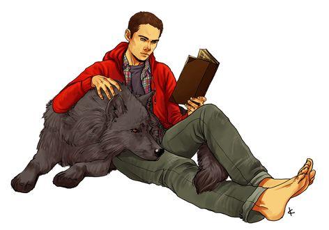 Фото Stiles Stilinski / Стайлз Стилински и волк из сериала Teen Wolf / Волчонок, by NinaKask