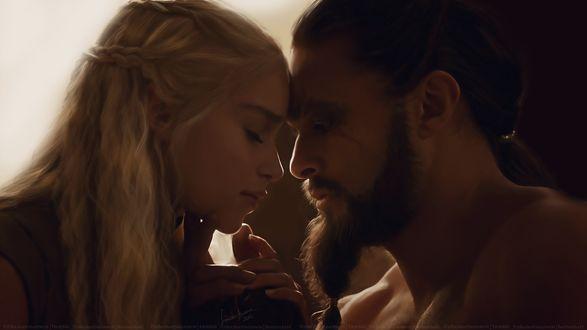 Фото Daenerys Targaryen / Дейнерис Таргариен и Khal Drogo / Кхал Дрого из сериала Game Of Trones / Игра Престолов, by LindaMarieAnson