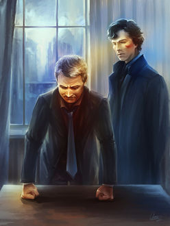 Фото Sherlock Holmes / Шерлок Холмс и John Watson / Джон Ватсон из сериала Sherlock / Шерлок, by Syllirium