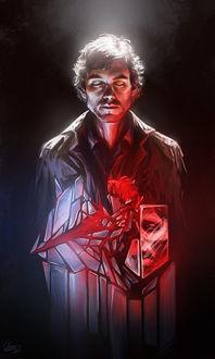 Фото Will Graham / Уилл Грэм из сериала Hannibal / Ганнибал и битое стекло, by Syllirium