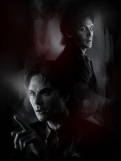 Фото Damon Salvatore / Деймон Сальваторе из сериала The Vampire Diaries / Дневники вампира, by Syllirium
