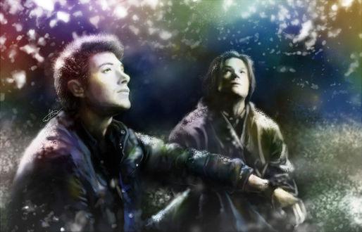 Фото Dean Winchester / Дин Винчестер и Sam Winchester / Сэм Винчестер из сериала Supernatural / Сверхъестественное, by Syllirium