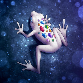 Фото Белая лягушка с кристаллами, by Pikishi