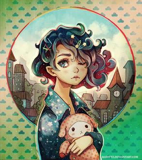 Фото Девочка с игрушкой в руках, by Radittz