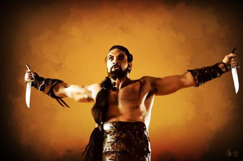 Фото Khal Drogo / Кхал Дрого из сериала Game Of Trones / Игра Престолов, by s3lwyn
