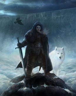 Фото Jon Snow / Джон Сноу из сериала Game Of Trones / Игра Престолов, by Nikita-Drizhenko (© Морея), добавлено: 13.08.2017 14:02