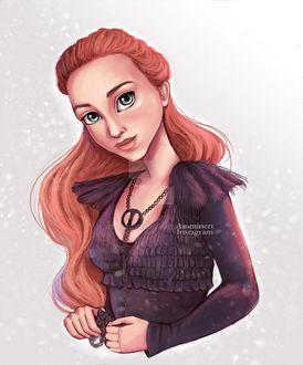 Фото Sansa Stark / Санса Старк из сериала Game Of Trones / Игра Престолов, by Asaminert (© Морея), добавлено: 13.08.2017 14:37