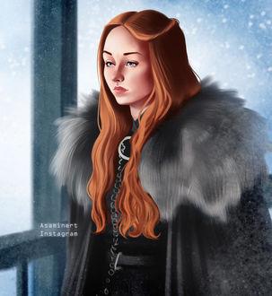 Фото Sansa Stark / Санса Старк из сериала Game Of Trones / Игра Престолов, by Asaminert
