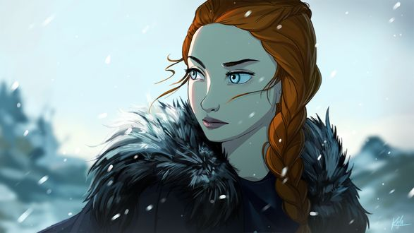 Фото Sansa Stark / Санса Старк из сериала Game Of Trones / Игра Престолов, by KalaSketch
