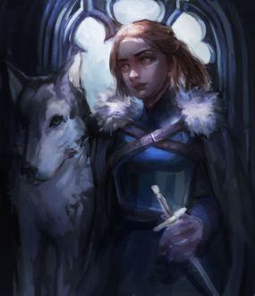 Фото Arya Stark / Арья Старк из сериала Game Of Trones / Игра Престолов, by pasteltea