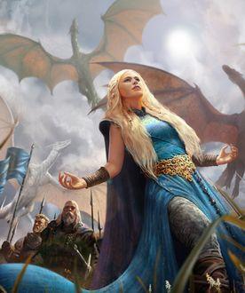 Фото Daenerys Targaryen / Дейнерис Таргариен из сериала Game Of Trones / Игра Престолов, by alexnegrea