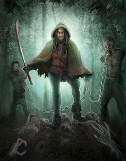 Фото Michonne / Мишонн из сериала The Walking Dead / Ходячие мертвецы, by Krikin