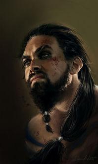 Фото Khal Drogo / Кхал Дрого из сериала Game Of Trones / Игра Престолов, by dalisacg