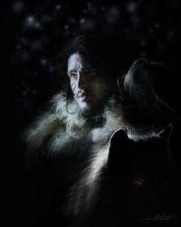 Фото Jon Snow / Джон Сноу из сериала Game Of Trones / Игра Престолов, by dalisacg