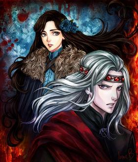 Фото Lyanna Stark / Лианна Старк и Rhaegar Targaryen / Рейегар Таргариен из сериала Game Of Trones / Игра Престолов, by AireensColor