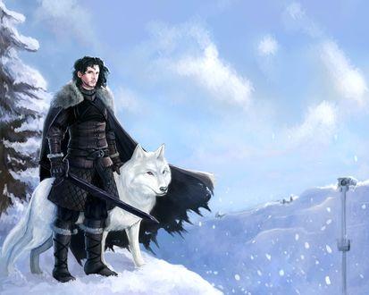 Фото Jon Snow / Джон Сноу из сериала Game Of Trones / Игра Престолов, by Dreambeing