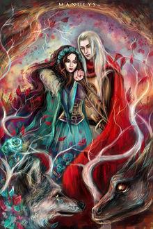 Фото Lyanna Stark / Лианна Старк и Rhaegar Targaryen / Рейегар Таргариен из сериала Game Of Trones / Игра Престолов, by manulys