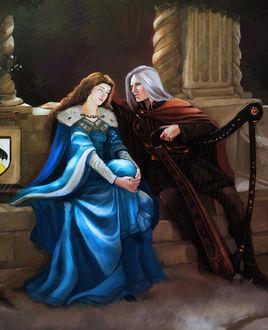 Фото Rhaegar Targaryen / Рейегар Таргариен и Lyanna Stark / Лианна Старк из сериала Game Of Trones / Игра Престолов, by JunePage