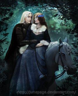 Фото Lyanna Stark / Лианна Старк и Rhaegar Targaryen / Рейегар Таргариен из сериала Game Of Trones / Игра Престолов, by JunePage