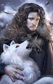 Фото Jon Snow / Джон Сноу из сериала Game Of Trones / Игра Престолов, by inermonster