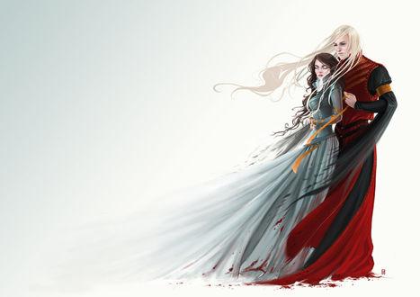 Фото Lyanna Stark / Лианна Старк и Rhaegar Targaryen / Рейегар Таргариен из сериала Game Of Trones / Игра Престолов, by Gudulett-e