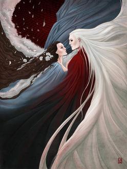 Фото Rhaegar Targaryen / Рейегар Таргариен и Lyanna Stark / Лианна Старк из сериала Game Of Trones / Игра Престолов, by Gudulett-e