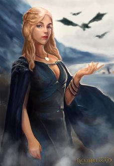 Фото Daenerys Targaryen / Дейнерис Таргариен из сериала Game Of Trones / Игра Престолов, by Jackiefelixart