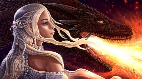 Фото Daenerys Targaryen / Дейнерис Таргариен из сериала Game Of Trones / Игра Престолов, by Dyewind