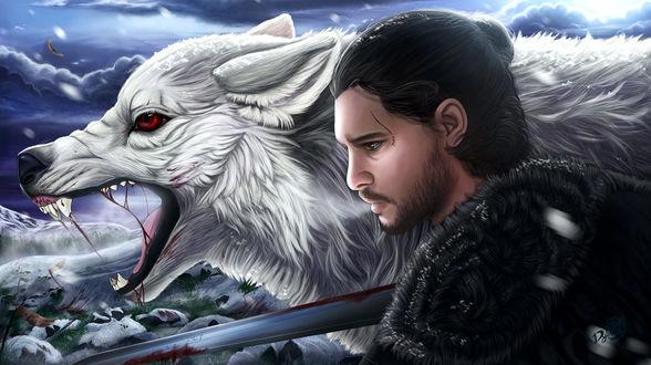 Фото Jon Snow / Джон Сноу из сериала Game Of Trones / Игра Престолов, by Dyewind