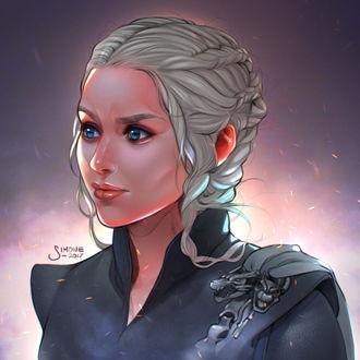 Фото Daenerys Targaryen / Дейнерис Таргариен из сериала Game Of Trones / Игра Престолов, by simoneferriero