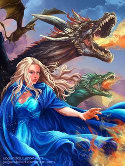 Фото Daenerys Targaryen / Дейнерис Таргариен из сериала Game Of Trones / Игра Престолов, by YogurtDollArt