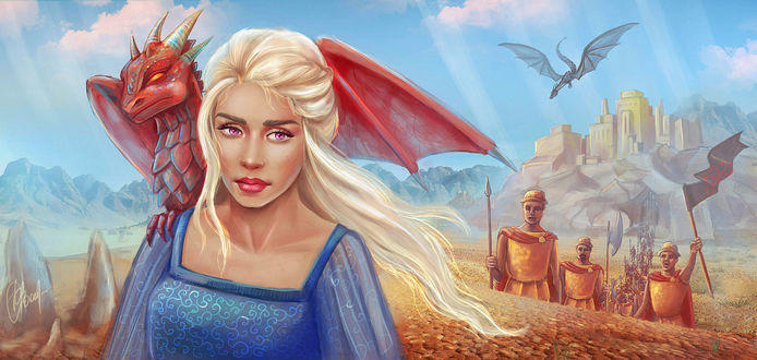 Фото Daenerys Targaryen / Дейнерис Таргариен из сериала Game Of Trones / Игра Престолов, by VeraVoyna