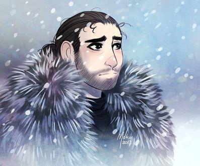 Фото Jon Snow / Джон Сноу из сериала Game Of Trones / Игра Престолов, by Mokodoko
