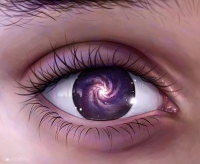 Фото Космос внутри глаза, by CosmosKitty