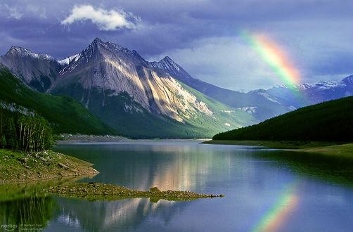 Фото Волшебный момент с радугой на озере, фотограф Norbert Liesz