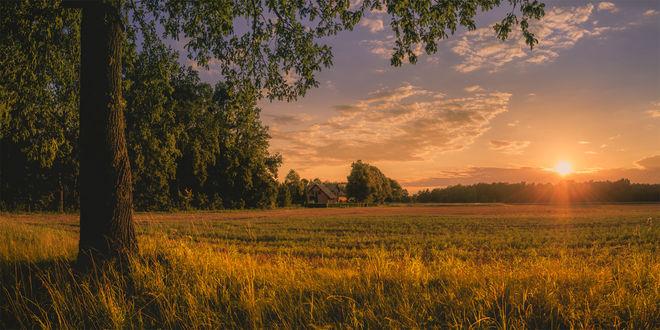 Фото Деревня Brandenburg / Бранденбурга на закате, фотограф Claudio De Sat