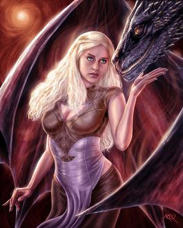 Фото Daenerys Targaryen / Дейнерис Таргариен из сериала Game Of Trones / Игра Престолов, by ArcosArt