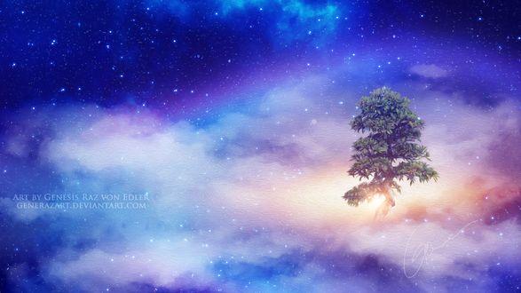 Фото Дерево среди облаков, by GeneRazART