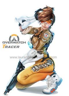 Фото Трейсер / Лена Окстон из игры Overwatch / Дозор, by Laurart88