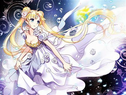Фото Лунная Princess Serenity / принцесса Серенити, арт к аниме из аниме Прекрасная воительница Sailor Moon / Сейлор Мун