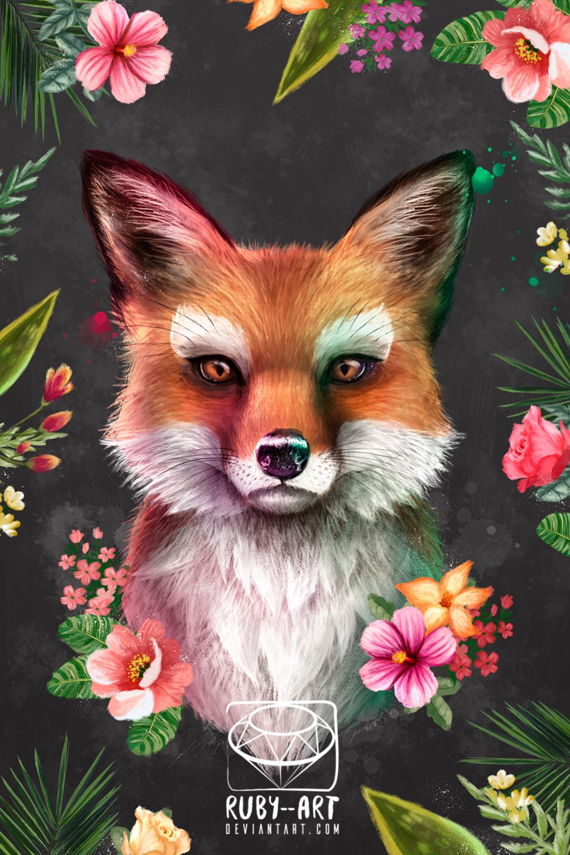 Чулках картинки, лиса с цветами картинки