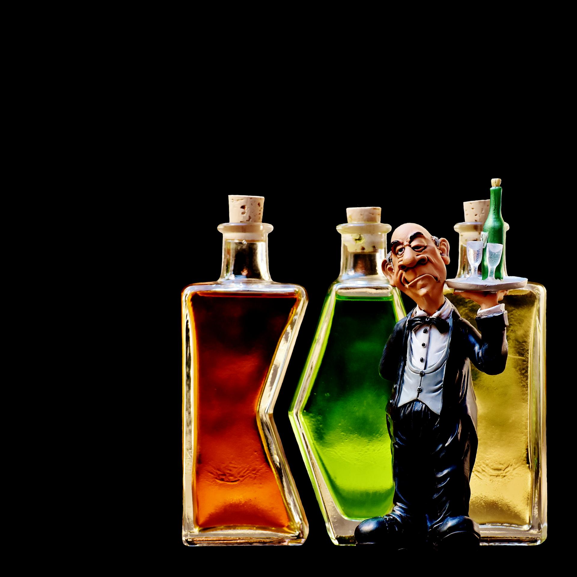 Фото открытки с бутылкой