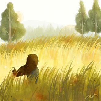 Фото Девочка в поле, среди высокой травы, by Yudha Aditya GZ