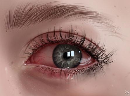 Фото Серый глаз со слезой, by Julia Razumova
