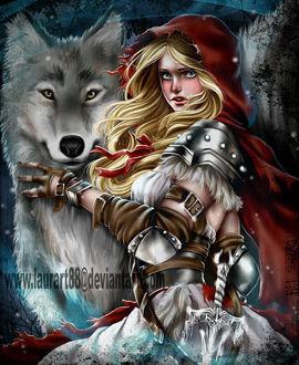 Фото Красная шапочка и серый волк, by Laurart88