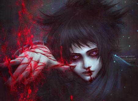 Фото Темноволосый парень с магией крови, by NanFe