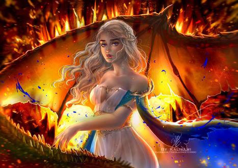 Фото Daenerys Targaryen / Дейнерис Таргариен из сериала Game Of Trones / Игра Престолов, by kalisami