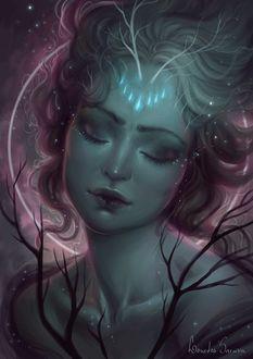 Фото Портрет девушки с закрытыми глазами, by agnes-green