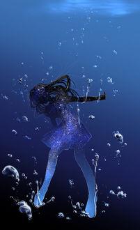 Фото Космическая девушка под водой, by saya