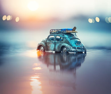 Фото Игрушечное авто в воде, by Ashraful Arefin